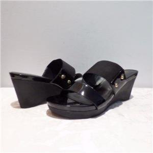 Ralph Lauren Rhianna Platform Wedge Sandals Black